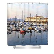 Peaceful Marina Shower Curtain