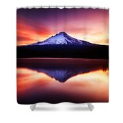 Peaceful Morning On The Lake Shower Curtain by Darren  White