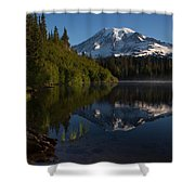 Peaceful Mountain Serenity Shower Curtain
