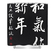Peaceful New Year's Wishes Shower Curtain