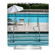 Peaceful Oasis Palm Springs Shower Curtain