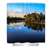 Peaceful Payette River Shower Curtain