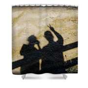 Peaceful People Shadows Shower Curtain