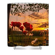 Peaceful Poppy Shower Curtain