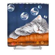 Peaceful Sleep Shower Curtain