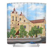 Peaceful Summer Morning Shower Curtain