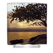 Peaceful Sundown On Hilo Bay - Hawaii Shower Curtain