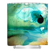 Peaceful Understanding Shower Curtain by Sharon Cummings