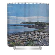 Peaceful View From Peaks Island Me Shower Curtain