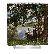 Peaceful View Shower Curtain by Robert Bales