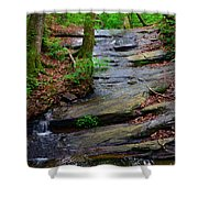 Peaceful Waterfall Shower Curtain