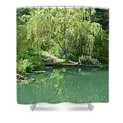 Peaceful Willow Tree Art Prints Shower Curtain