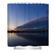 Peaceful Yachts And Sailboats Shower Curtain