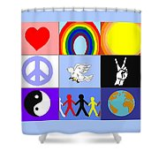peaceloveunity Mosaic Shower Curtain