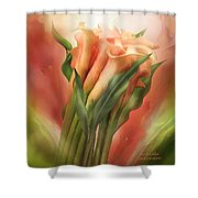 Peach Callas Shower Curtain
