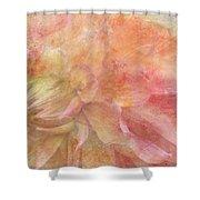 Peach Dahlia Shower Curtain