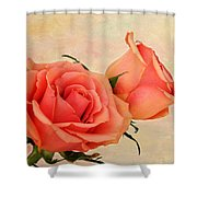Peaches And Cream Shower Curtain