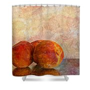 Peach Trio  Shower Curtain