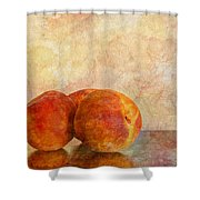 Peach Trio II Shower Curtain