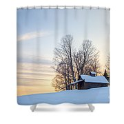 Peacham Sugarhouse Shower Curtain