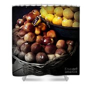 Peaches And Lemons Antique Shower Curtain