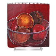 Peaches And Nectarines Shower Curtain