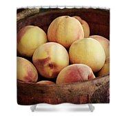 Peaches In A Basket Shower Curtain