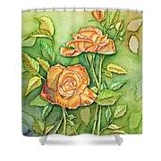 Autumn Roses Shower Curtain