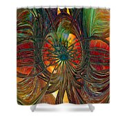 Peacock City Of Abstract Fx  Shower Curtain
