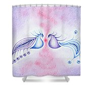 Peacock Dance Shower Curtain by Keiko Katsuta
