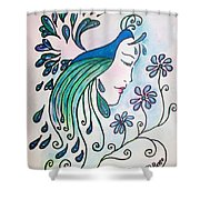 Peacock Dawn Shower Curtain