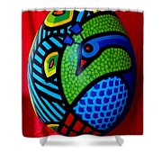 Peacock Egg II  Shower Curtain