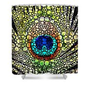 Peacock Feather - Stone Rock'd Art By Sharon Cummings Shower Curtain