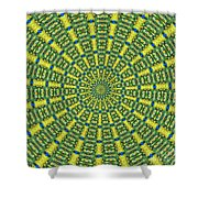 Peacock Feathers Kaleidoscope 2 Shower Curtain