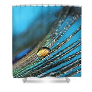 Peacock Gold Shower Curtain