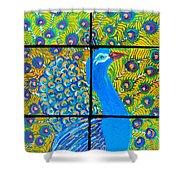 Peacock Ix Shower Curtain