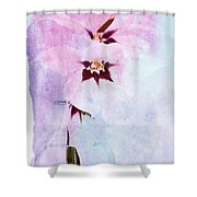 Peacock Orchids Shower Curtain