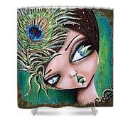 Peacock Princess Shower Curtain