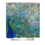 Peacock Proper Peacock Shower Curtain