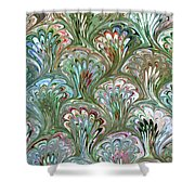 Peacock Shell Pattern Abstract Shower Curtain