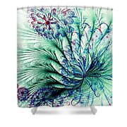Peacock Tail Shower Curtain