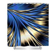 Peacock Tail Feather Shower Curtain