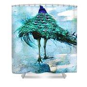 Peacock Walking Away Shower Curtain