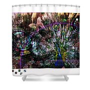 Peacock With Leftovers  Shower Curtain