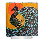 Peacock X Shower Curtain