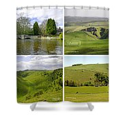 Peak District Collage 01-labelled Shower Curtain