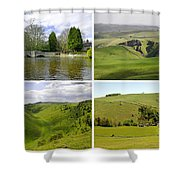 Peak District Collage 01-plain Shower Curtain