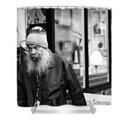 Peaking  Lounging  Shower Curtain