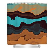 Peaks And Valleys 3 Shower Curtain