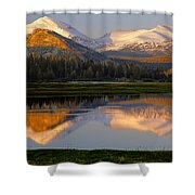 6m6530-a-peaks Reflected Touolumne Meadows  Shower Curtain